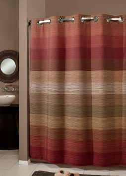 Red And Brown Shower Curtain Google Search Fabric Shower