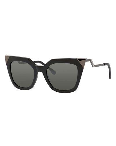 699cc6bca4435 Iridia Mirror-Tip Cat-Eye Sunglasses