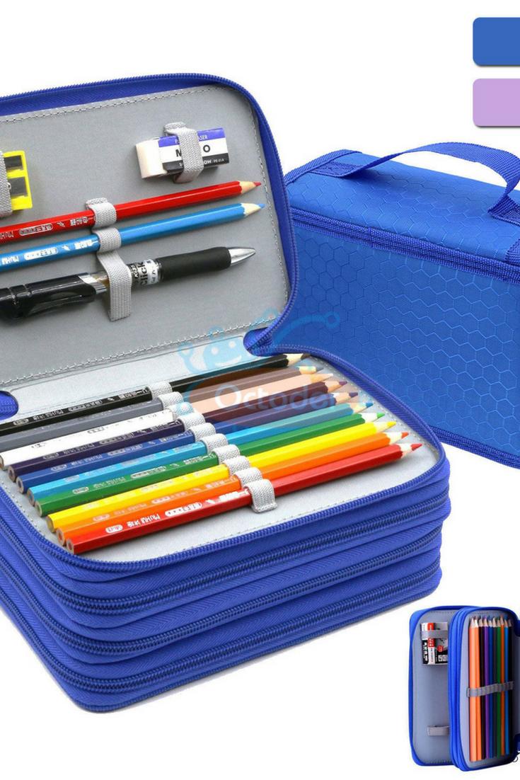 4 Layers High Capacity Pencil Brush Case Box Pen Pouch Bag