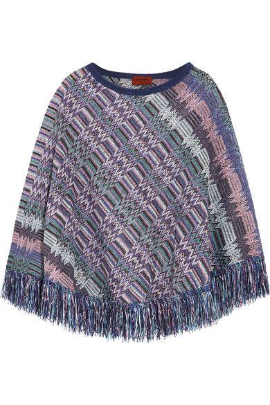 9752fb852f246 Missoni - Crochet-knit wool poncho | Products | Wool poncho ...
