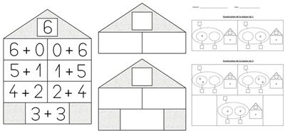 maison nombres maths cp math matiques jeux maths et classe. Black Bedroom Furniture Sets. Home Design Ideas