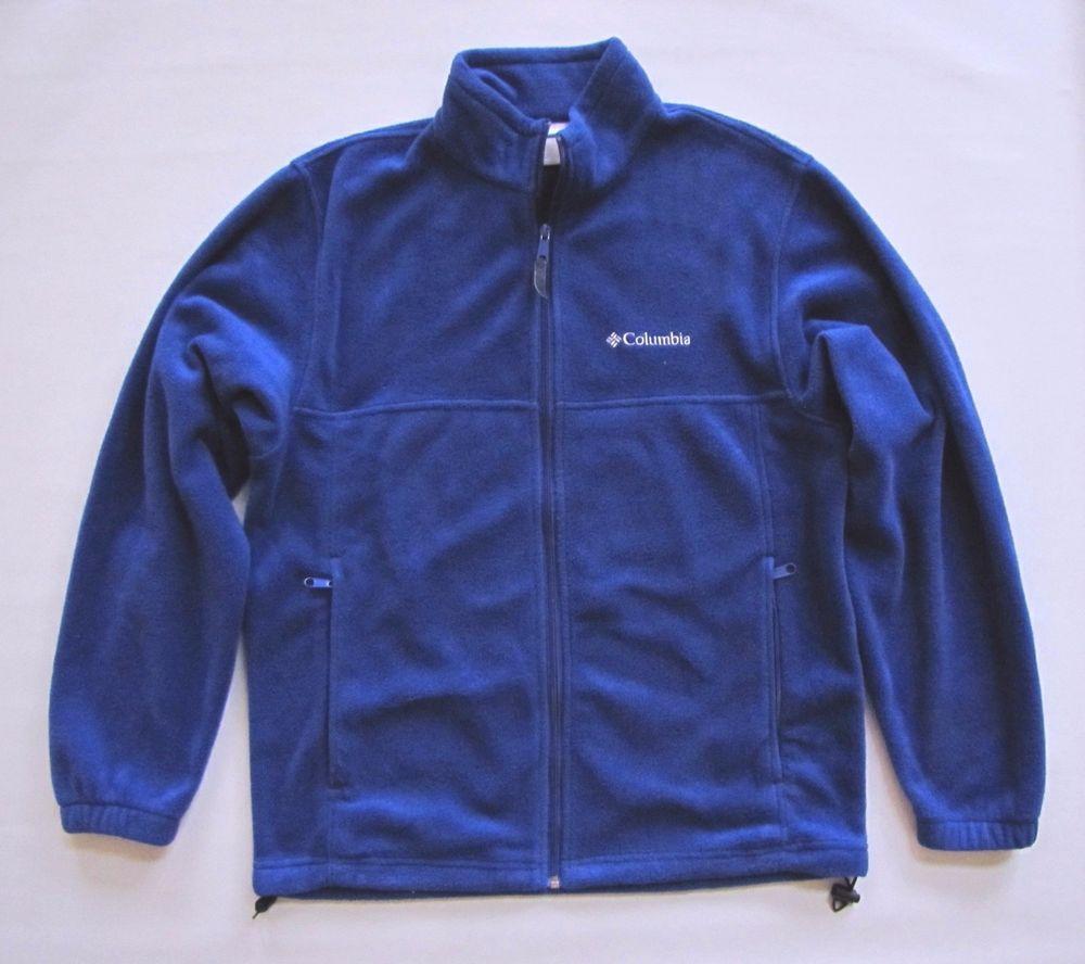 Columbia Mens Fleece Jacket Medium Zip front Steens Mountain Cobalt Blue WM6113 #Columbia #FleeceJacket