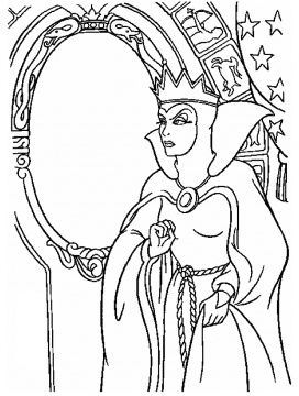 Lucille La Verne With The Magic Mirror Witch Coloring Pages