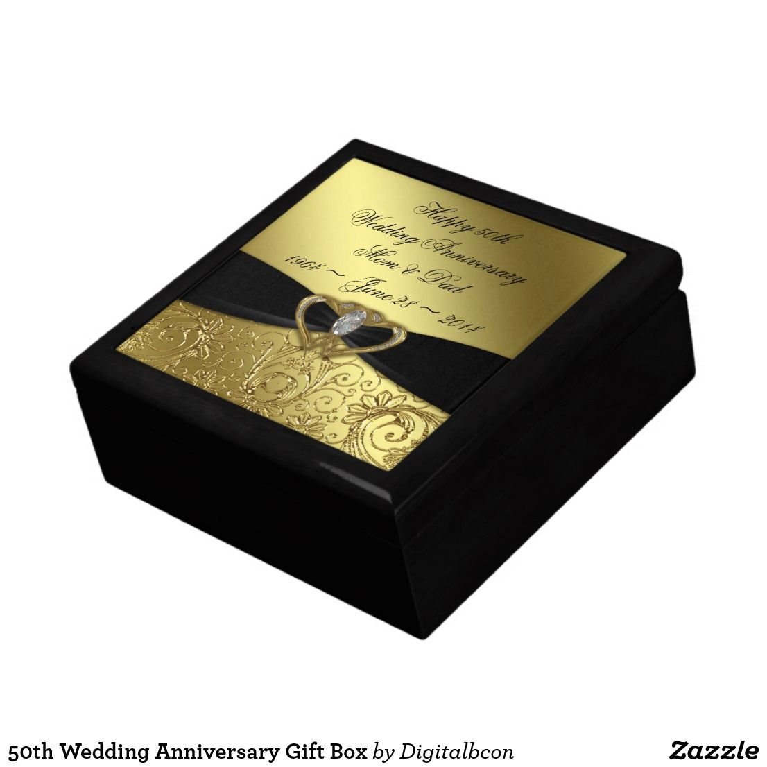 50th wedding anniversary gift box 50