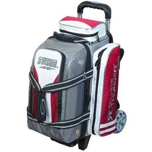 Storm Rolling Thunder 2 Ball Roller Silver Red White Bowling Bags Free Shipping Bowling Bags Bowling Bowling Ball Bags