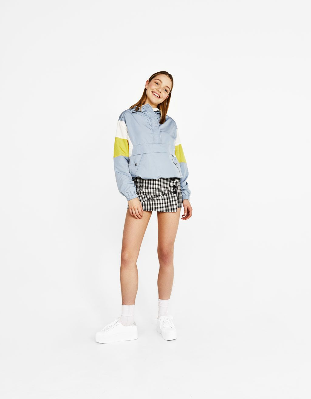 Jacket With Pouch Pocket Discover This And Many More Items In Bershka With New Products Every Week Clothes Outfits Summer Collection