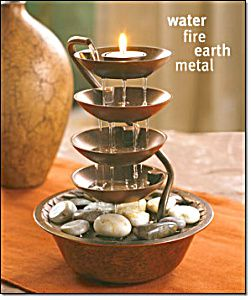 Water  Fire  Earth  Metal  Pinned by The Mystic s Emporium on EtsyFENG SHUI RAIN FOUNTAIN  Image1    health   Pinterest   Feng shui  . Indoor Bedroom Water Fountain. Home Design Ideas