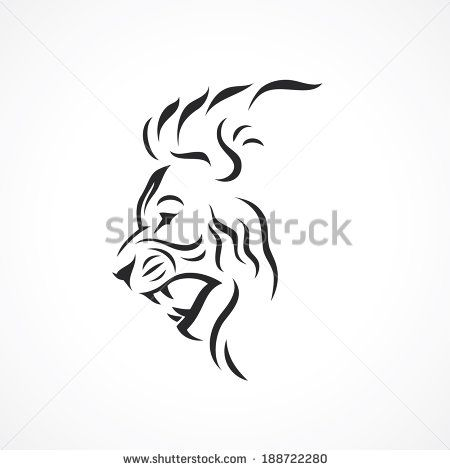 Angry Lion Vector Illustration Lion Vector Tribal Lion Tattoo Lion Tattoo Sleeves