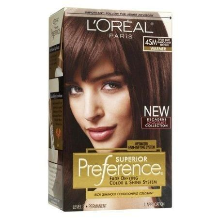 L\'Oreal Preference Hair in Dark Soft Mahogany Brown #4SM I used ...