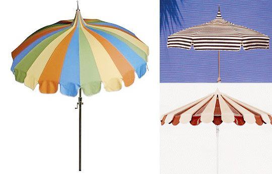 Pagoda Style Patio Umbrellas | Apartment Therapy