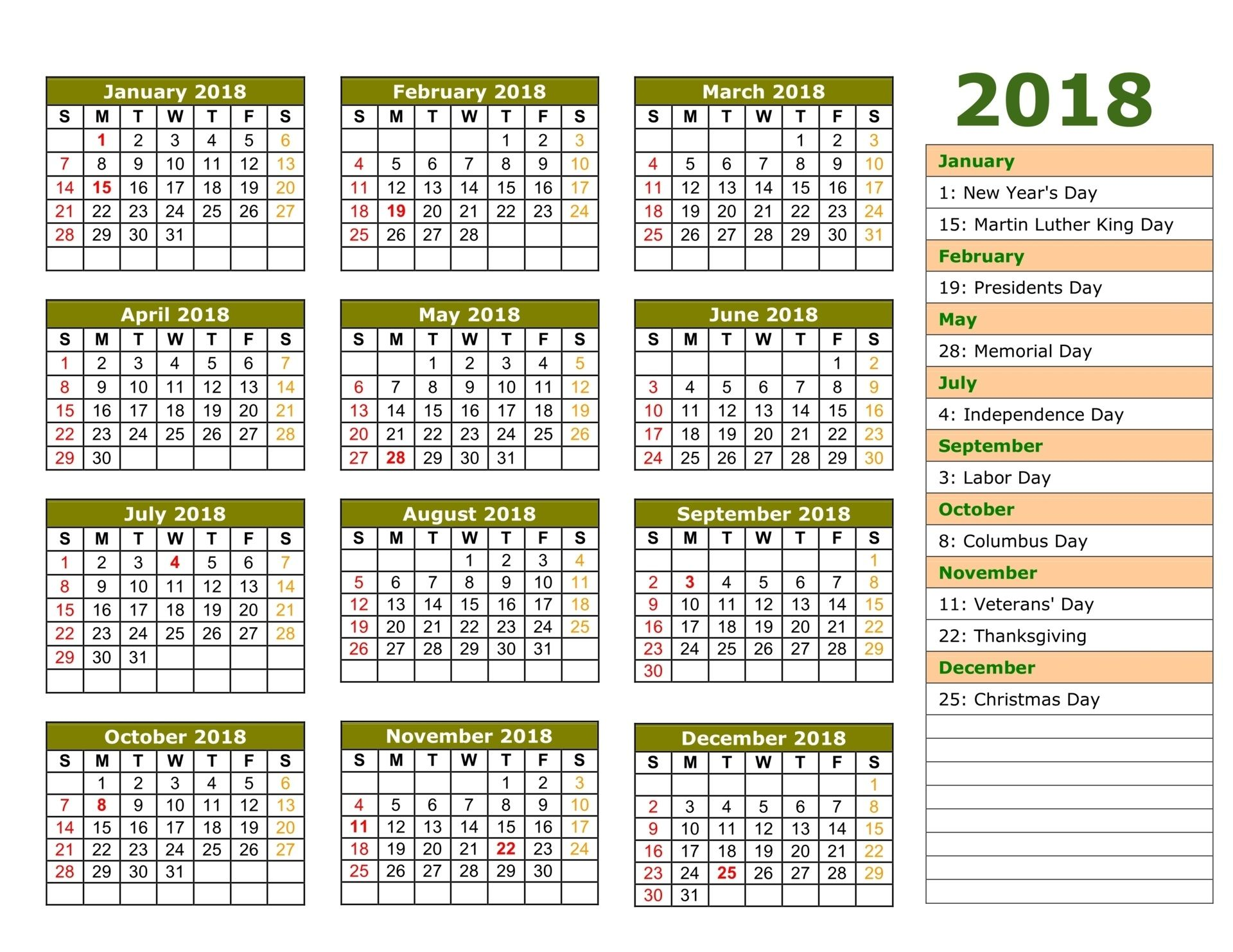 Printable Templates Calendar Free