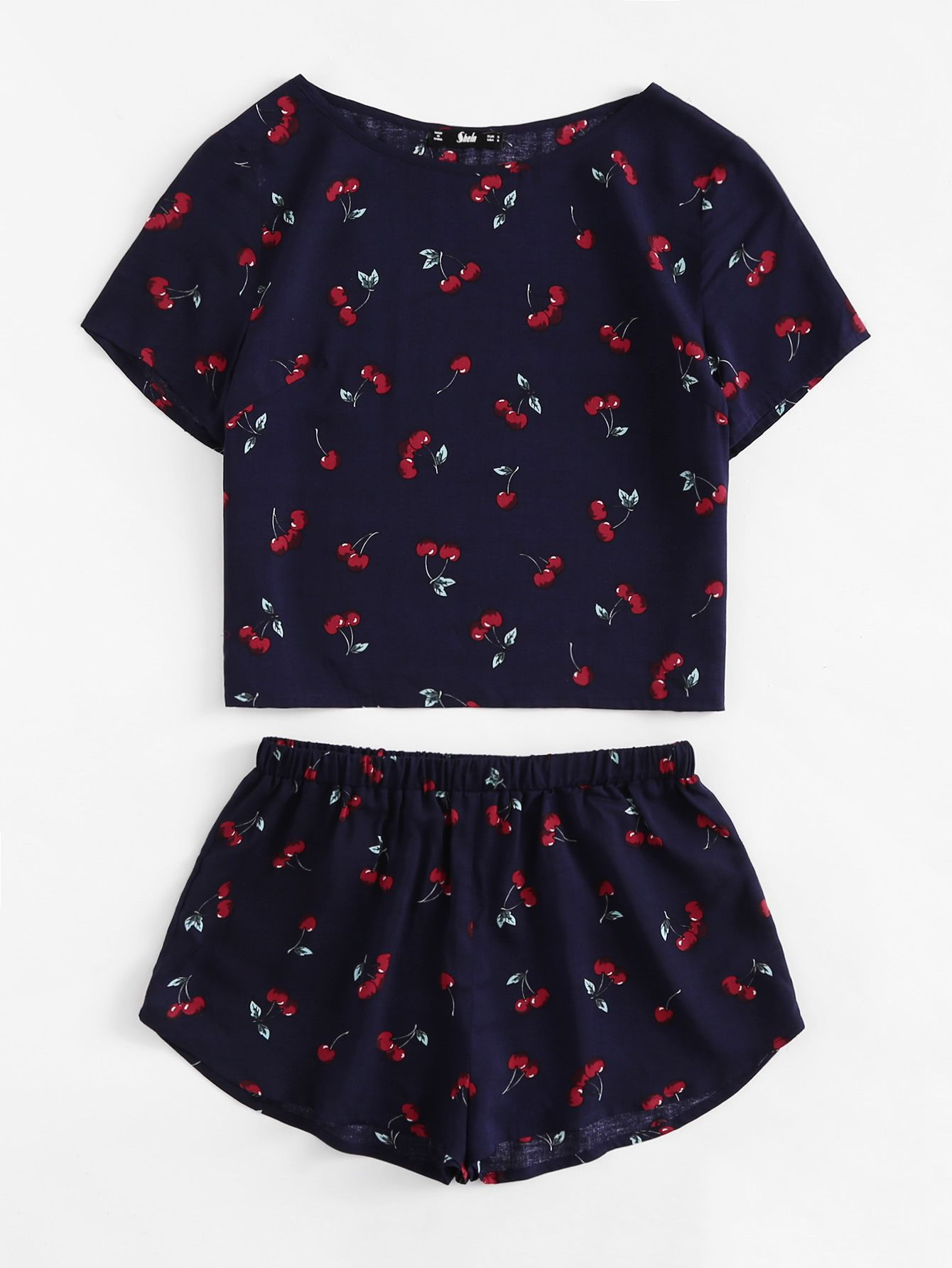 design di qualità 84768 f03a1 Negozio Top pigiama stampata con pantaloncini pigiama on ...