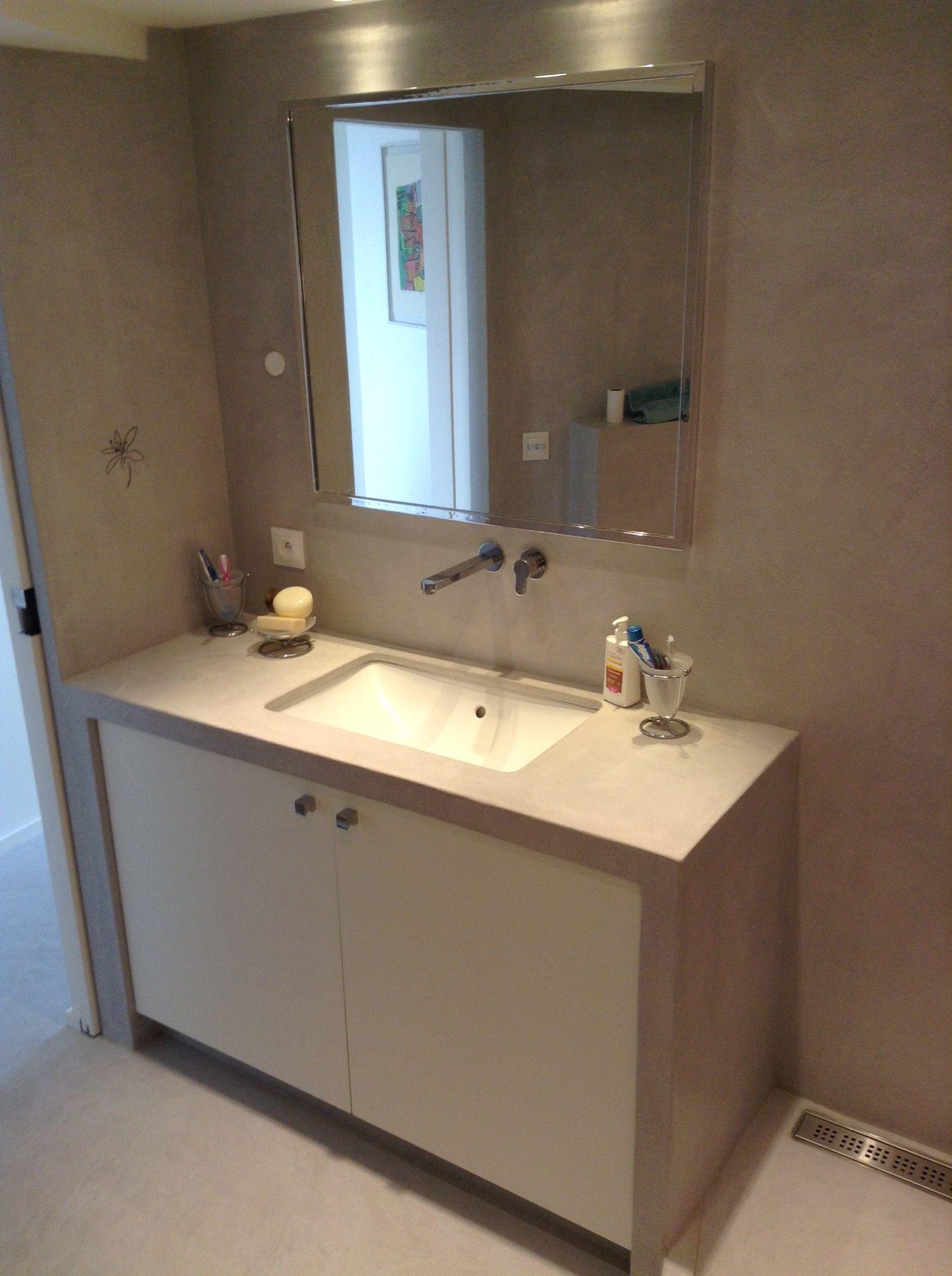 Meuble En Béton Ciré meuble vasque en béton ciré | meuble vasque, beton ciré, beton