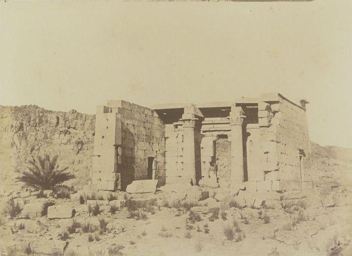 1849-1850 - Zafah : temple de Zafis. Photographe : Maxime Du Camp