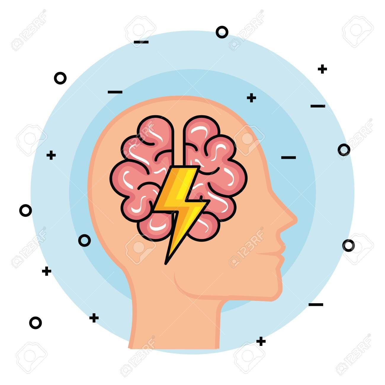 silhouette man head with brain and thunder vector illustration spon head man silhouette b cartoon styles social media design graphics silhouette man pinterest