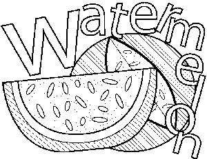 Watermelon coloring page | abc countdown | Pinterest | Family ...