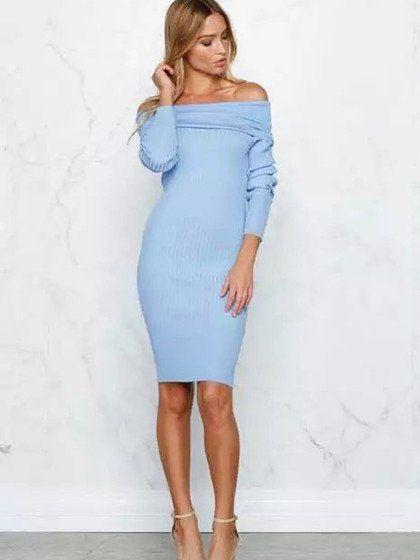 37++ Light blue long sleeve dress ideas