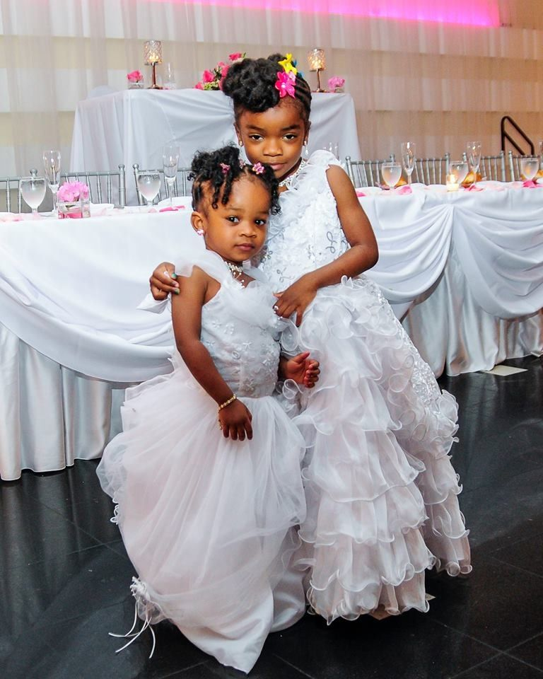 Wedding Hairstyles For Black Little Girls: #pretty #naturalhairstyles #weddingpictures #cutephoto