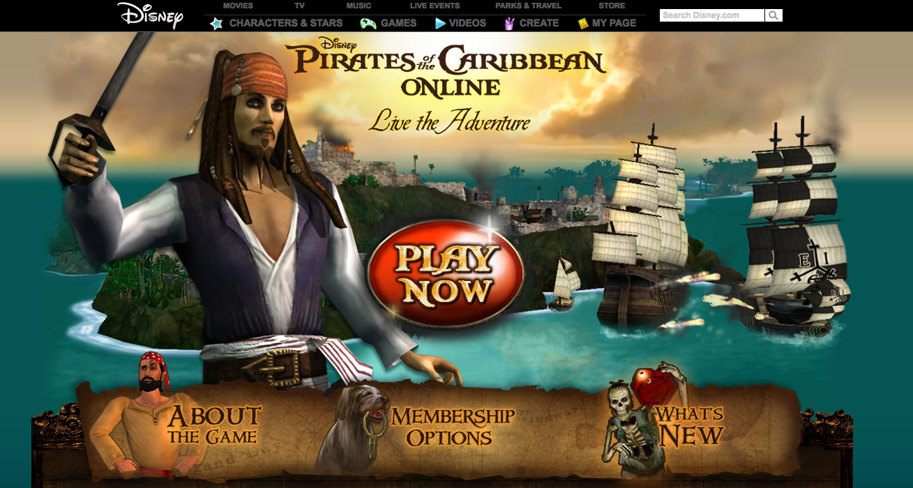 Pirates of the Caribbean Online 1 Fun online games