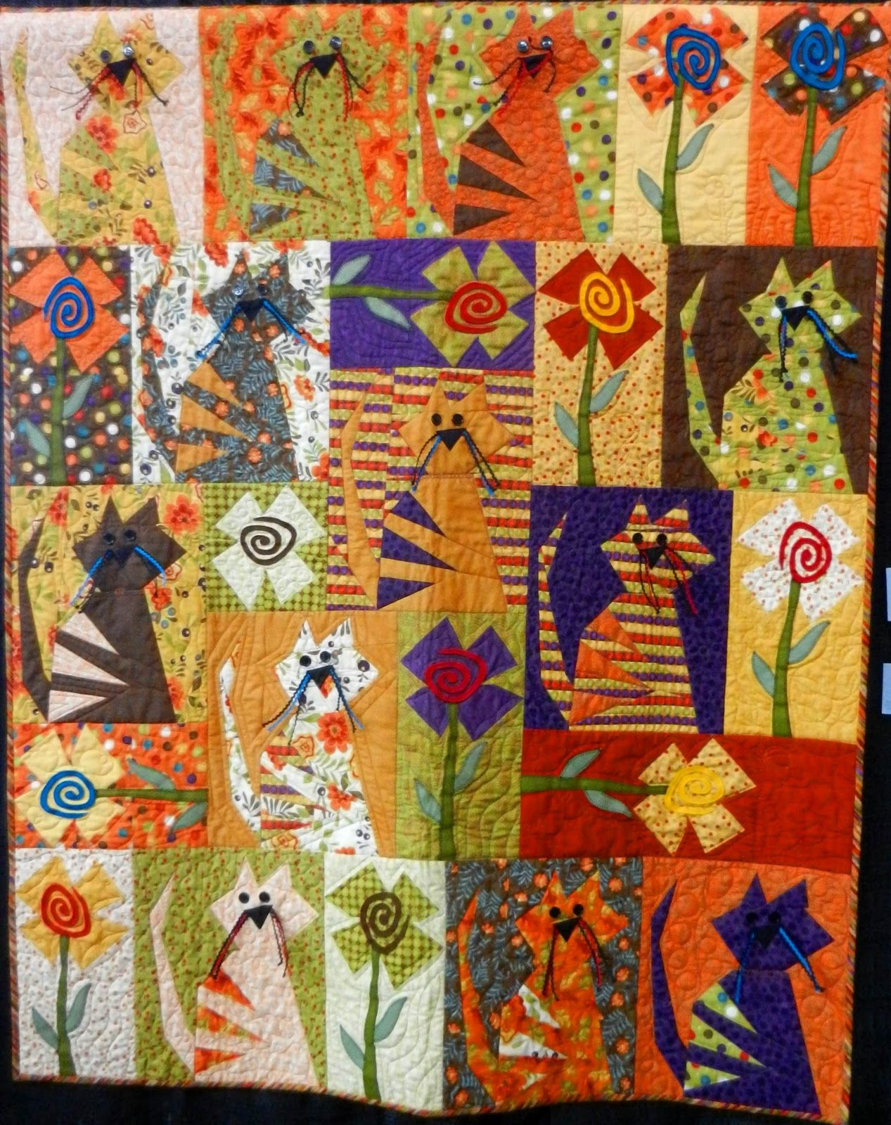 Cat Patches: Stitches in Bloom Quilt Show
