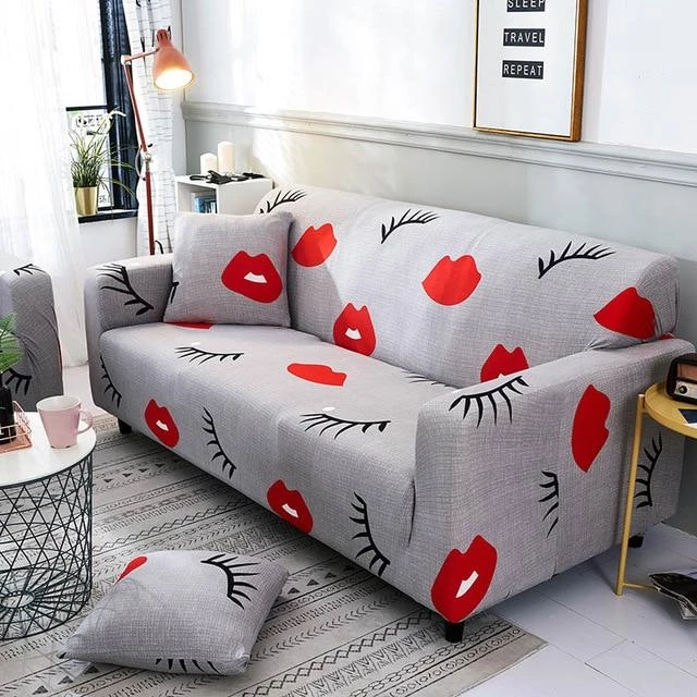 Stretch Slipcovers Cotton Sofa Cover Mat Decor Non-slip Fabric Couch Cushions