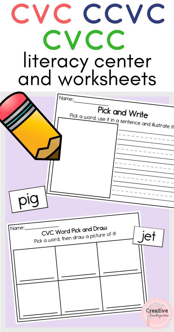 Cvc Ccvc Cvcc Cvce Words Literacy Center And Worksheets
