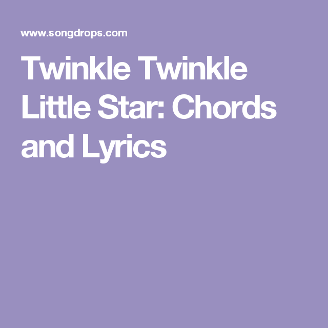 Twinkle Twinkle Little Star Chords Guitar Image Collections Guitar