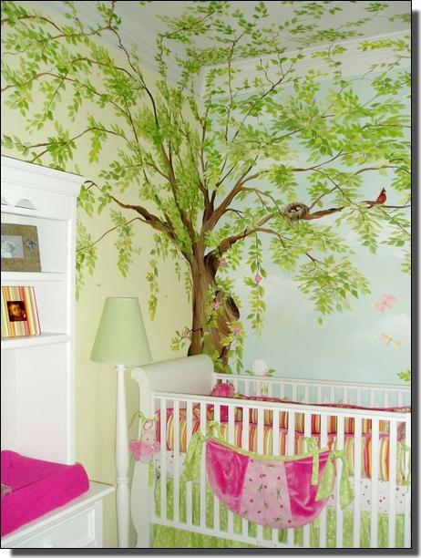 Falfestmeny Falfestes Otletek Dekoracios Falfestes Abraham Monika A Falmester Aki Az On Szobajat Egyediv Tree Mural Kids Tree Mural Bedroom Tree Mural
