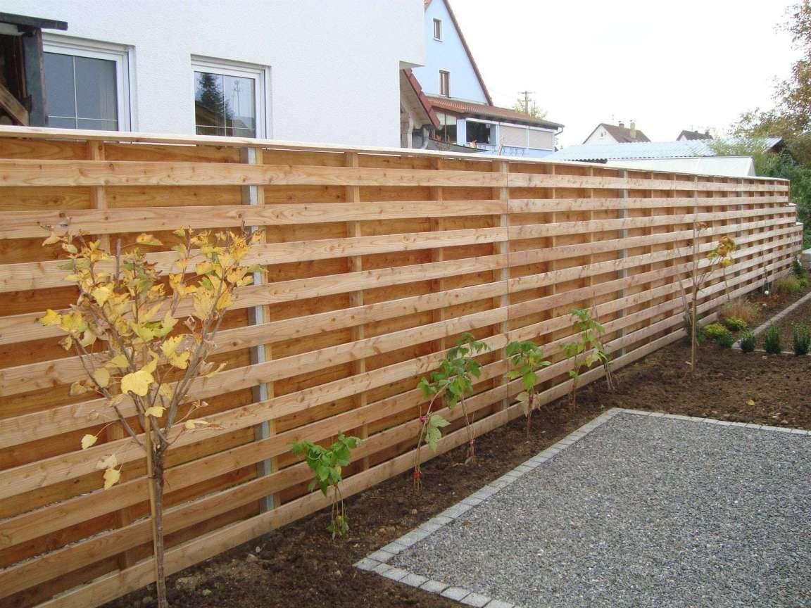 17 Holzzaun Selber Bauen Sichtschutz Garten Gestaltung