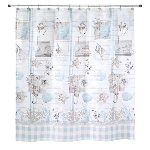 Avanti Farmhouse Shell Shower Curtain Farmhouse Shower Curtain