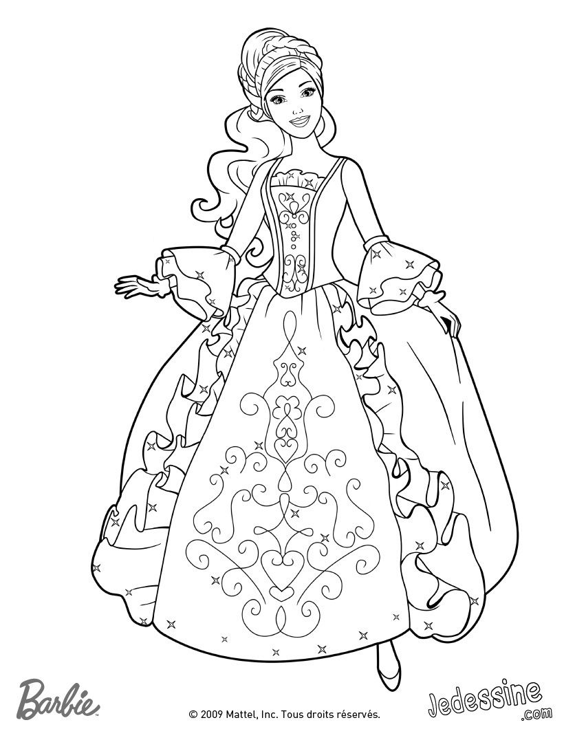 Gratis Ausmalbilder Barbie : Aramina In Ball Dress Coloring Page Aramina 20129256 820 1060 Jpg