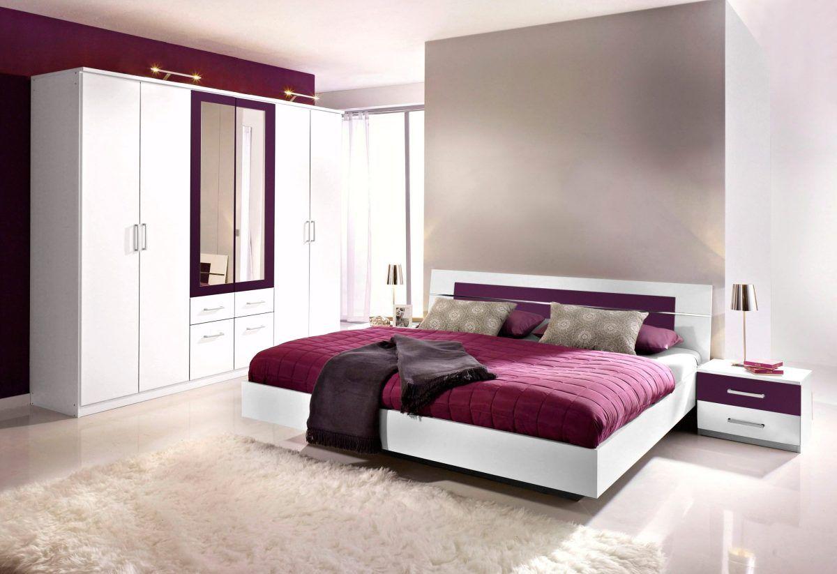 Rauch PACK`S Schlafzimmer (4-tlg.) lila, mit Aufstellservice, mit 4 ...