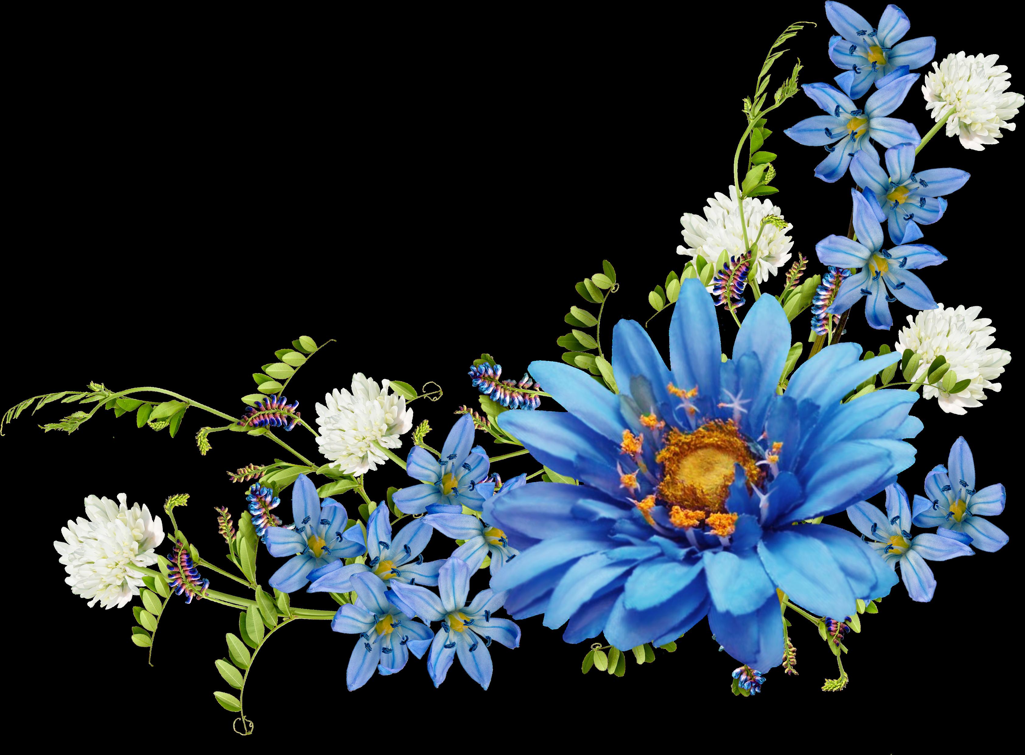 Download And Share Clipart About Flower Desktop Wallpaper Blue Wallpaper Blue Flower Corner Border Flower Border Png Blue Flower Png Flower Desktop Wallpaper
