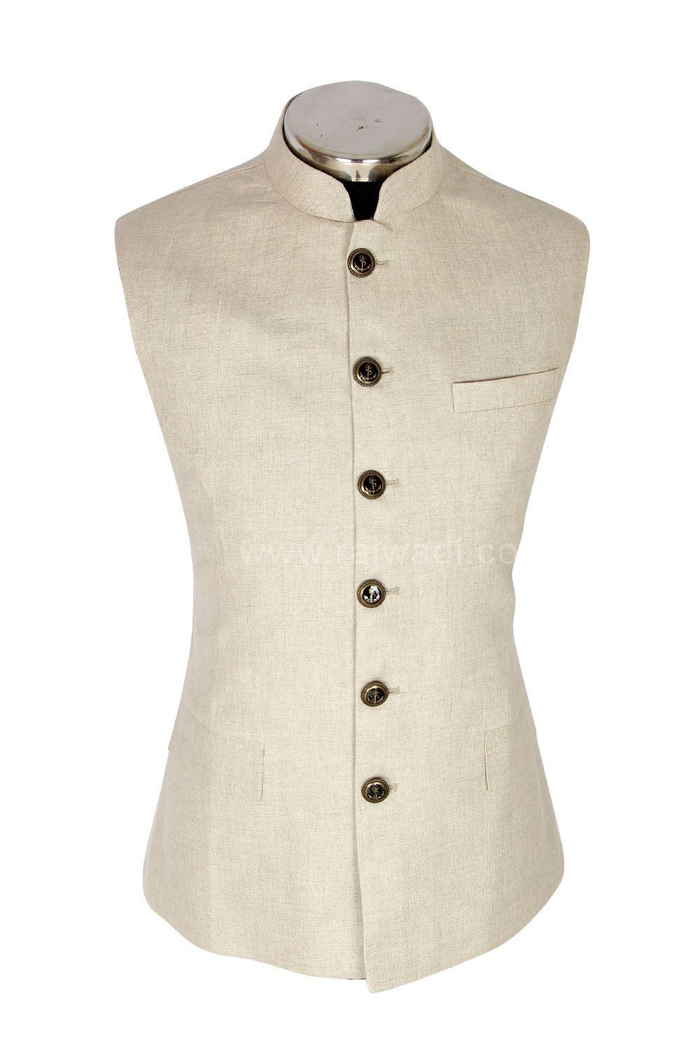 Fancy linen nehru jacket rajwadi rajesh pandi pinterest