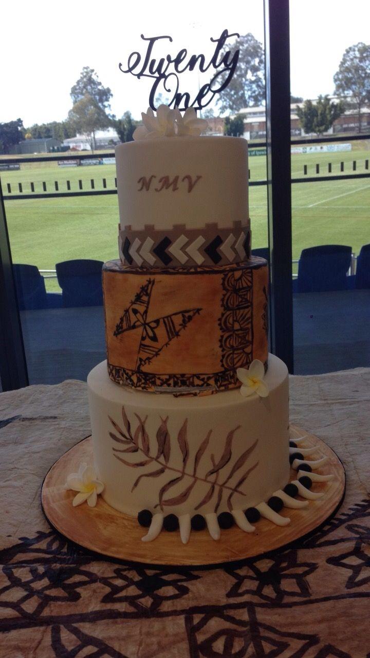 Samoan Themed 21st Birthday Cake