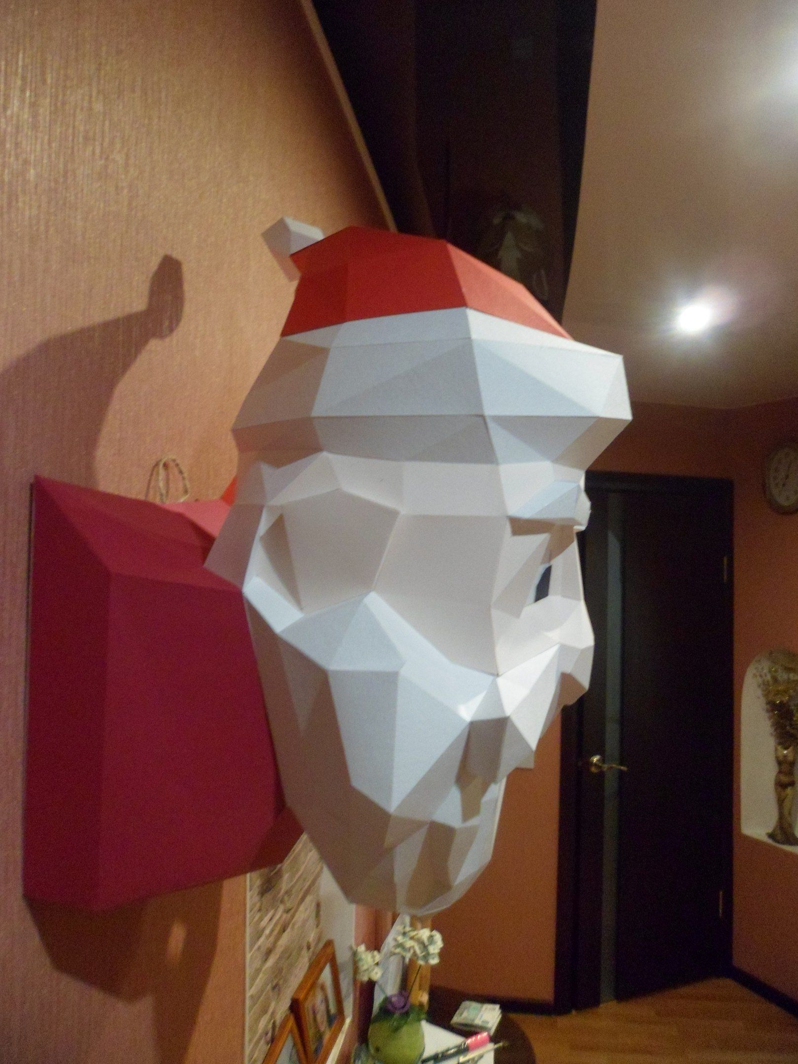 Santa Claus Paper Santa Paper Model 3d Model Papercraft Etsy Paper Models Paper Crafts Paper Sculpture