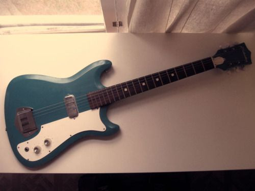 This Was My First Electric Guitar Vintage Green Silvertone From
