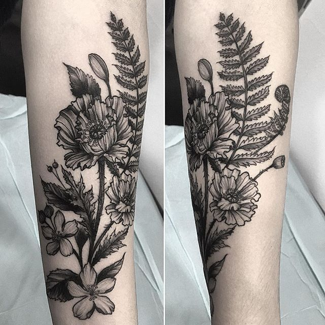 Botanical Tattoo Artists Seattle