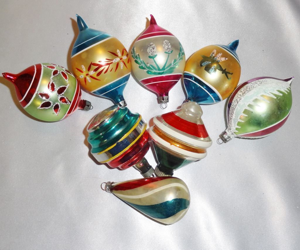 vintage glass christmas ornaments poland shiny brite w germany