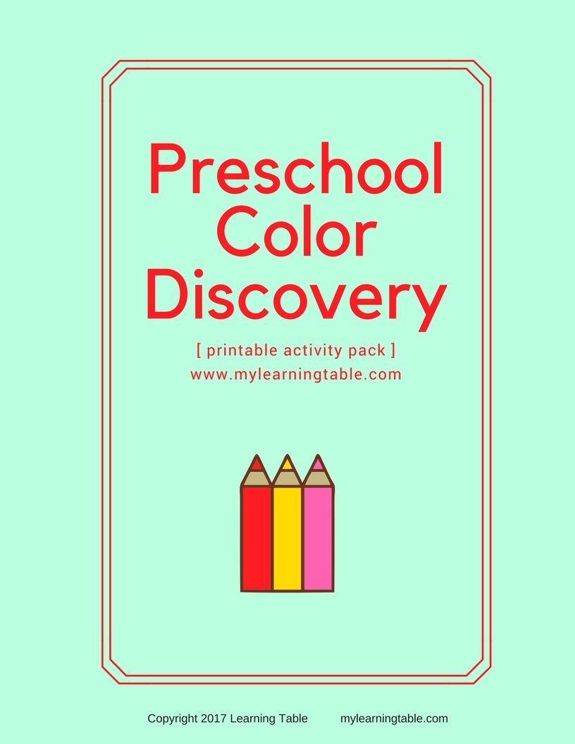 Preschool Color Discovery Activity Pack | Rainbow snacks, Activities ...