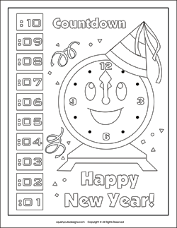 New Year S Coloring Pages Puzzles New Year Coloring Pages New Year S Eve Colors New Year S Eve Activities
