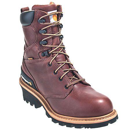 Carhartt Boots Men's Steel Toe Waterproof EH Logger Boots CML8230,  #CarharttBoots, #CML8230