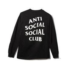 Anti Social Social Club Get Weird Long Sleeve Black Tee ASSC Tee