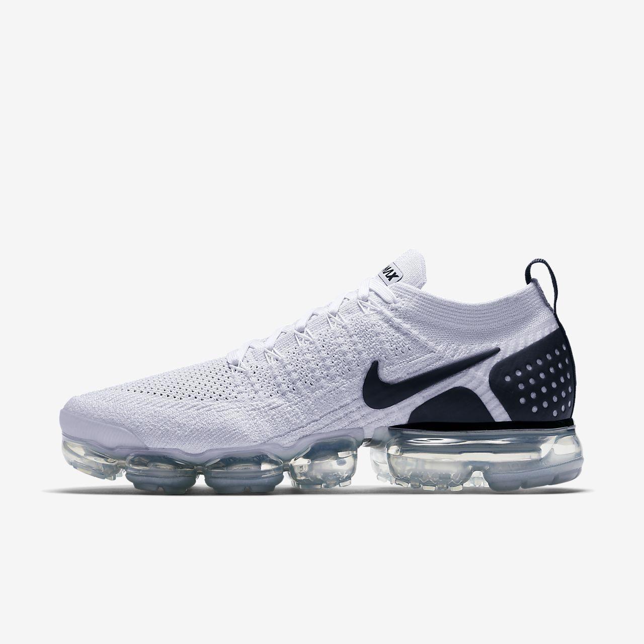 e41b4be043df Men s Nike Air VaporMax Flyknit 2 Running Shoe White Black White Style   942842-103