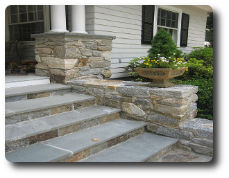Stone Entry Steps Natural Stone Front Steps Custom Stone Work