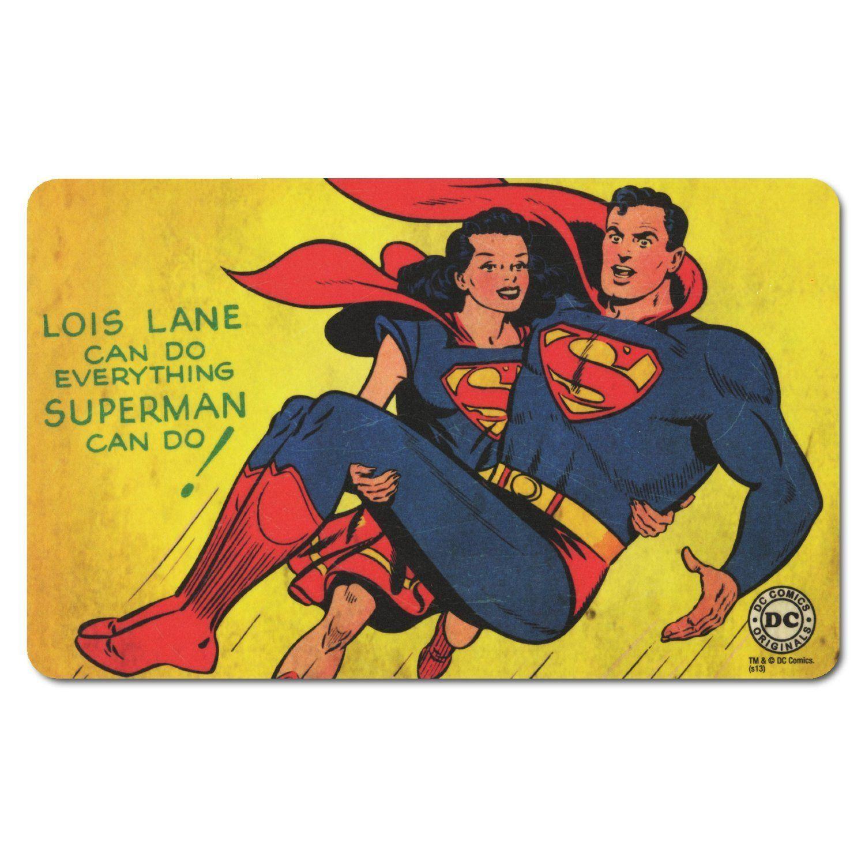 Dc Comics Retro Comic Fruhstucksbrettchen Schneidbrett Superman