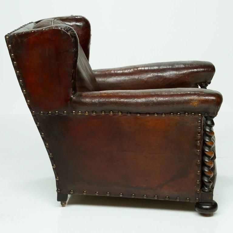 Vintage French Leather Wing Chair 5 The Men\u0027s Room Pinterest