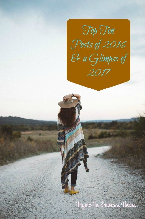 Top Ten Posts of 2016 & a Glimpse of 2017-Thymetoembraceherbs.com