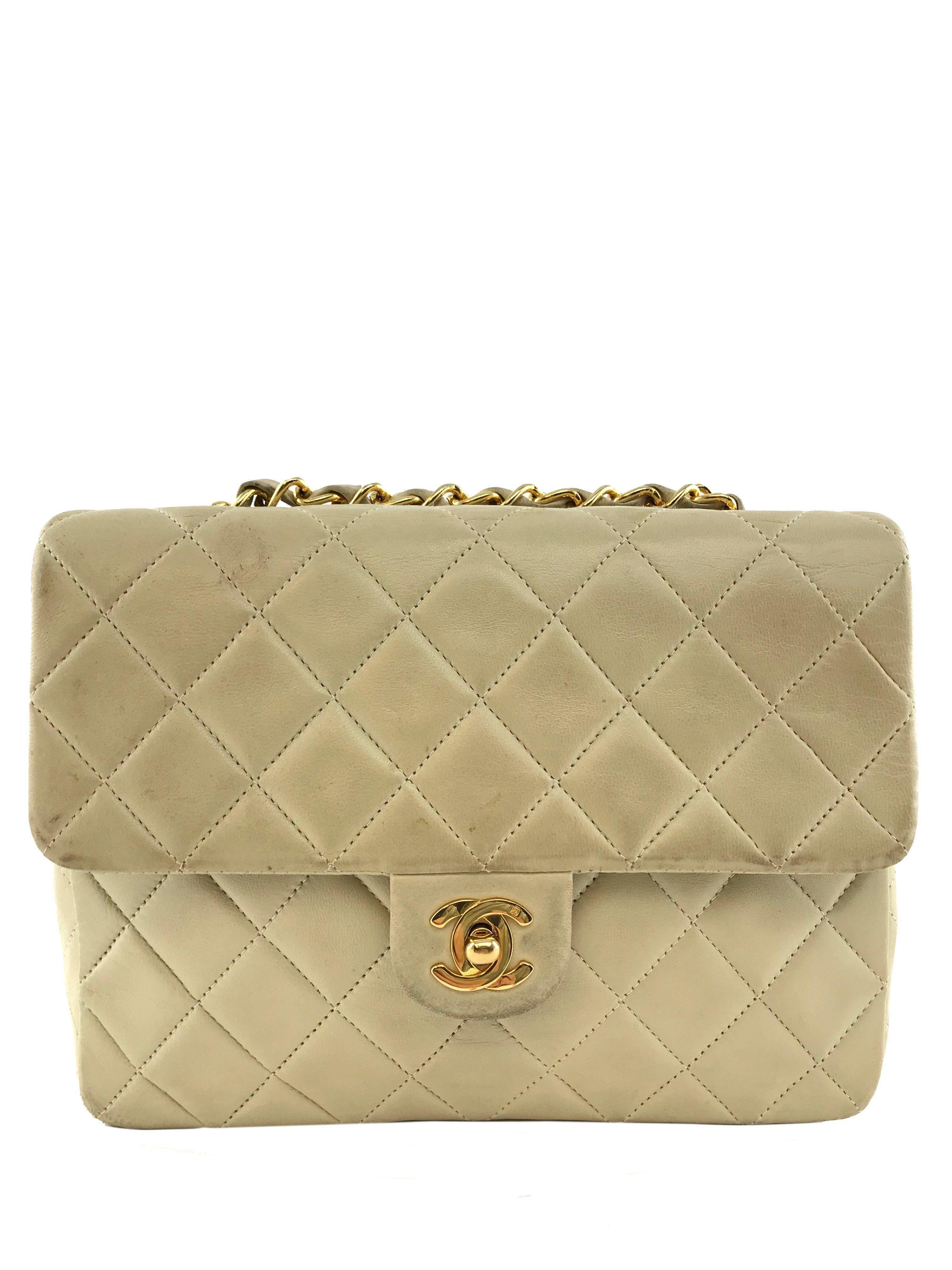 e10581ad8fc3e0 Chanel Vintage Lambskin Quilted Small Single Flap Vintage Chanel, Classic, Shoulder  Bag, Shoulder
