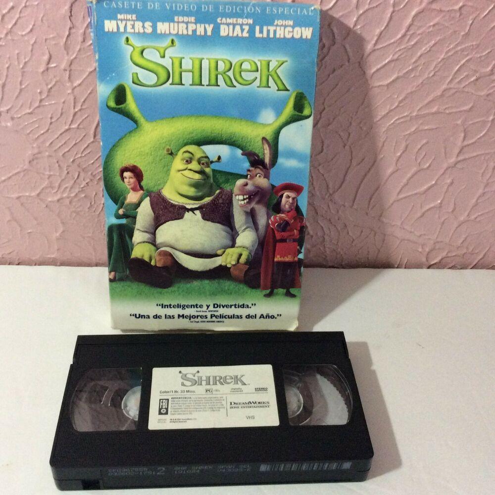 Shrek Movie Vhs In Spanish Pg Dreamworks Shrek Dreamworks Vhs